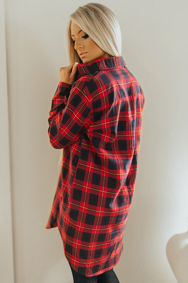 Forever Favorite Plaid Dress In Red