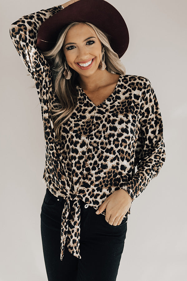 Date Night Darling Leopard Top