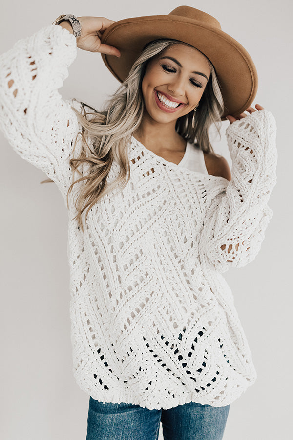 Season Of Style Tunic Sweater in Ivory