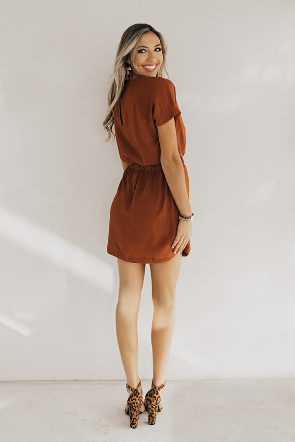 May I Have This Dance Dress In Rust