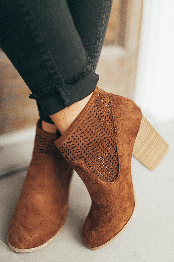 The Lillie Faux Suede Bootie