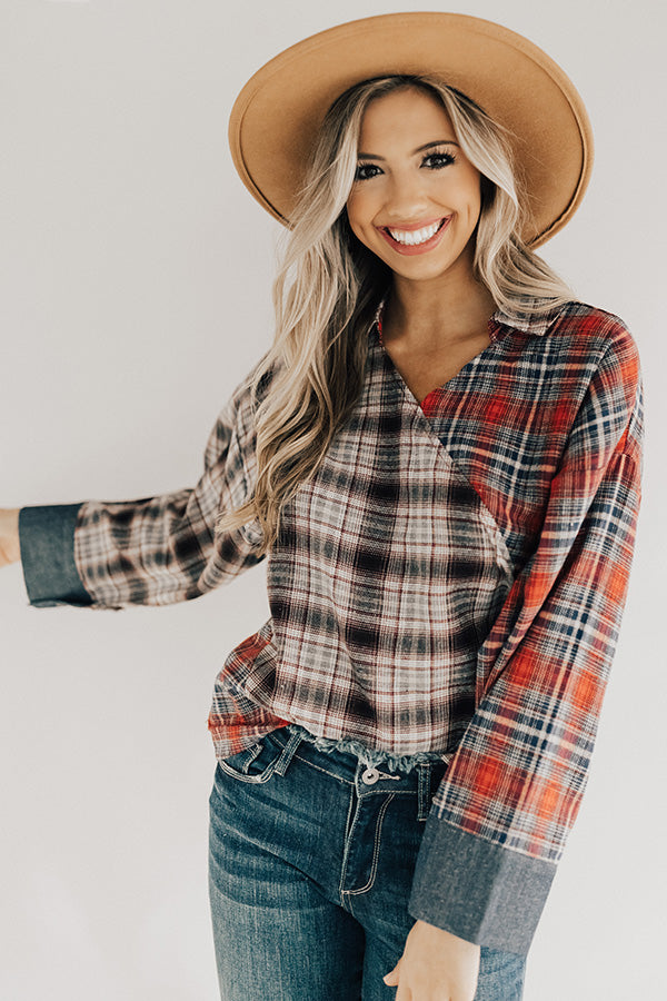 Warm And Toasty Plaid Shift Top