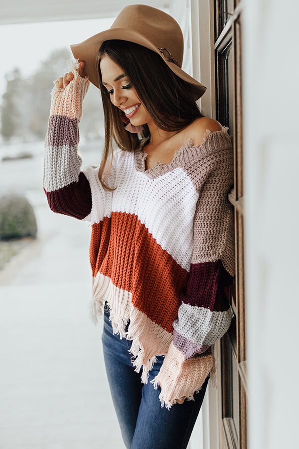Cocoa Cheers Shift Sweater in Heirloom Lilac