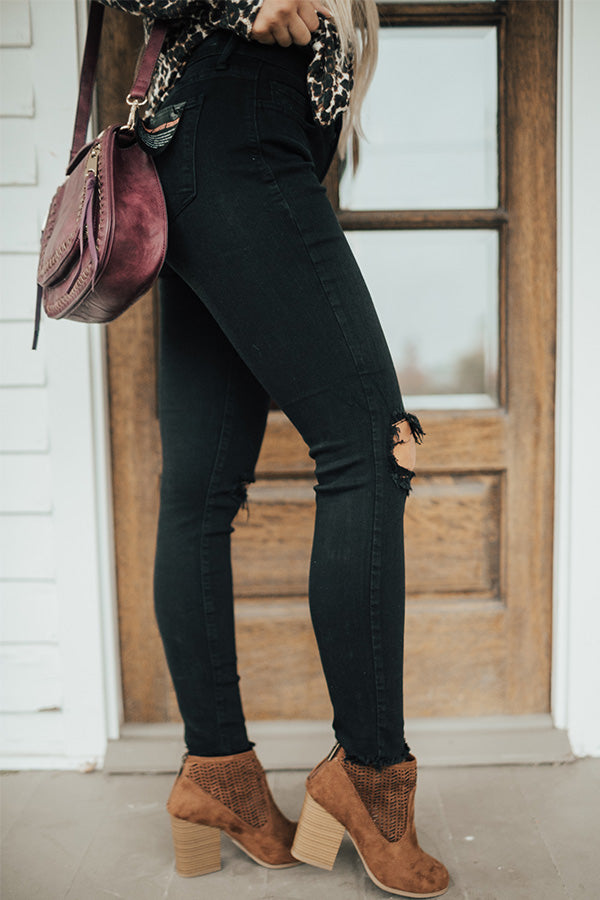 The Faye Mid Rise Distressed Skinny