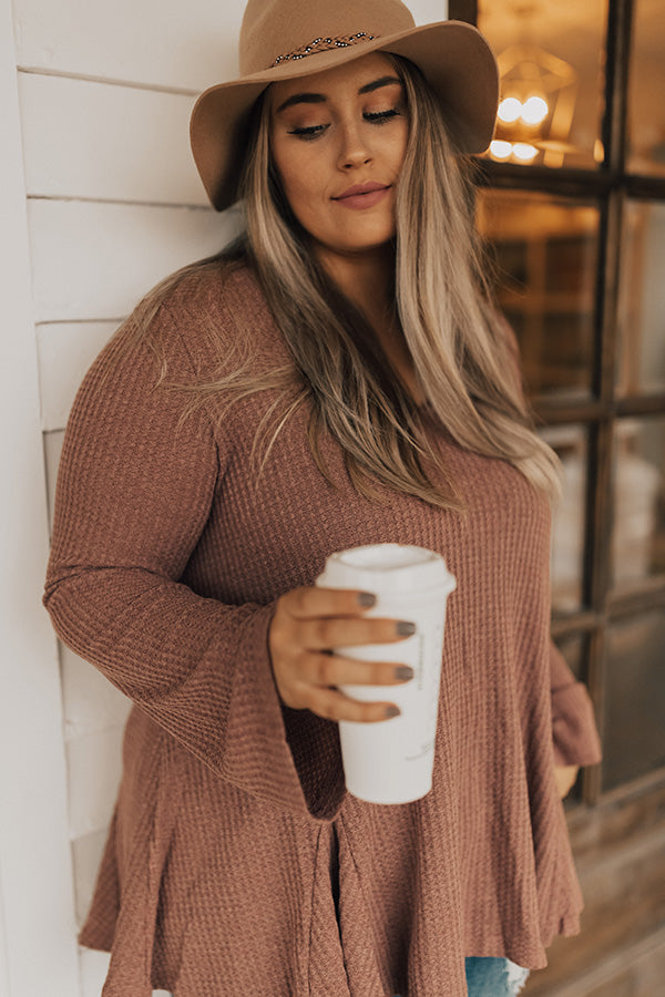Sugar And Extra Spice Waffle Knit Top