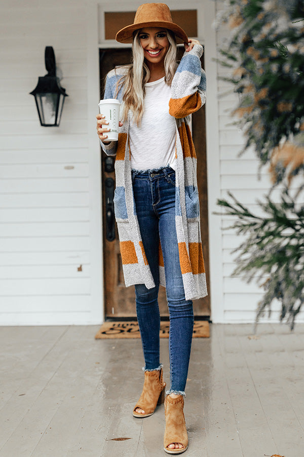 Manhattan Chill Stripe Cardigan