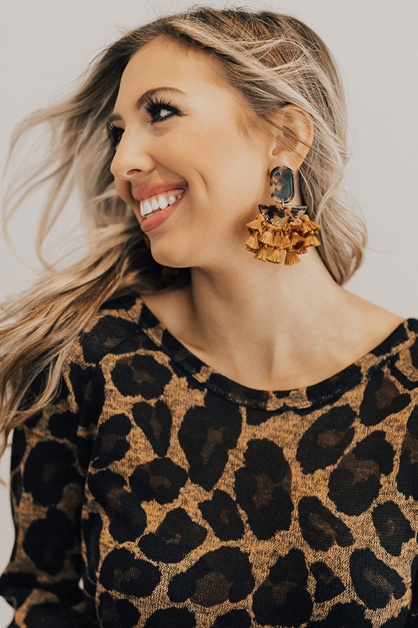 At The After Party Tortoiseshell Earrings In Maple