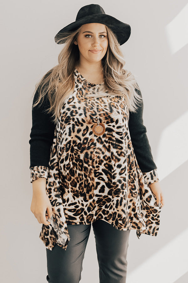 Cocktail Please Leopard Velvet Tunic
