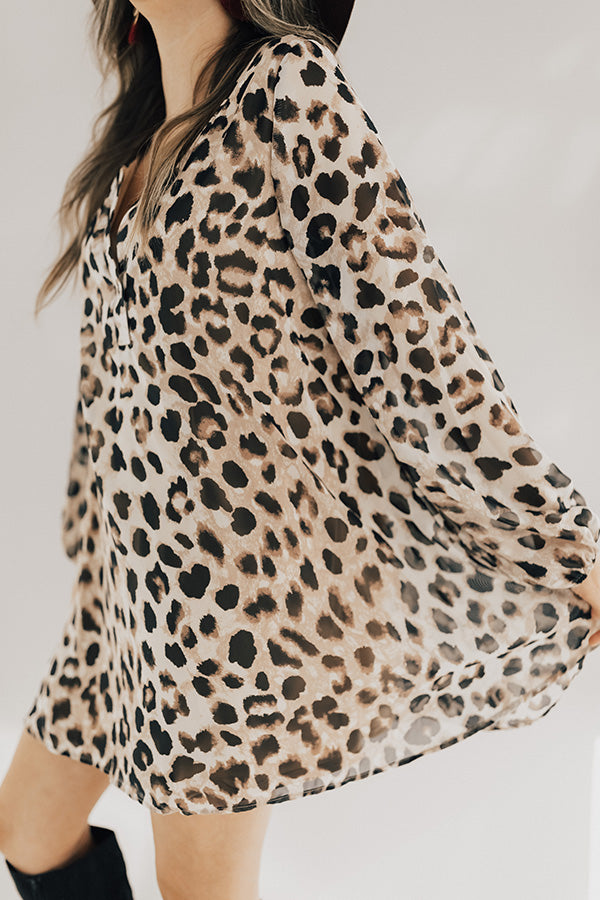 Let's Celebrate Leopard Tunic Dress