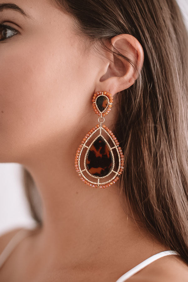 Vip Party Earrings In Nectarine