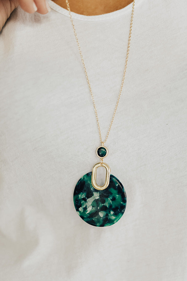 It Girl Gorgeous Necklace In Green