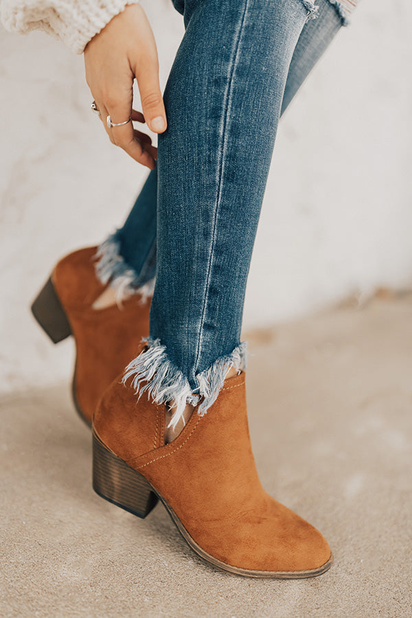 The Eloise Faux Suede Bootie