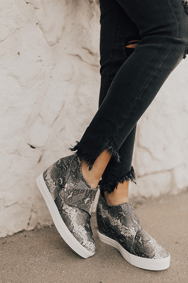 The Penny Lane Snake Print Bootie