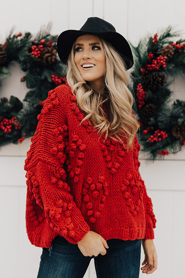 378afa864b Falling In Love Hand-Knit Sweater In Red • Impressions Online Boutique
