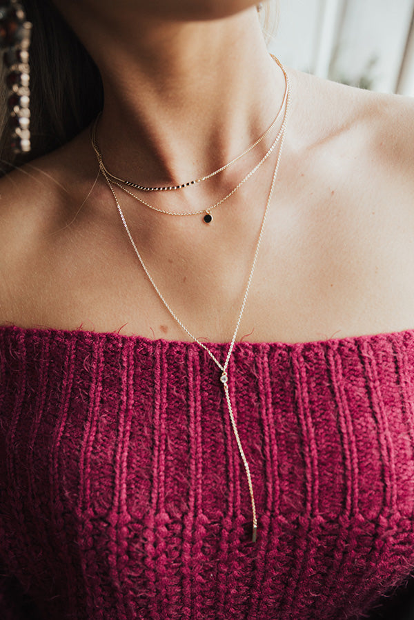 Prosecco Sippin' Layered Necklace