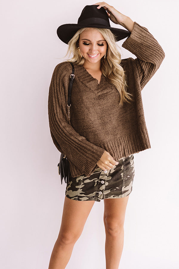 Frost And Frose' Shift Sweater In Mocha