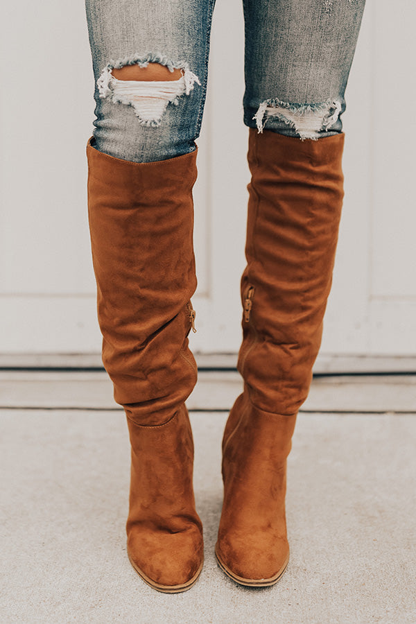 The Lynn Knee High Boot In Cinnamon