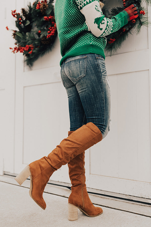 The Lynn Over The Knee Boot In Cinnamon