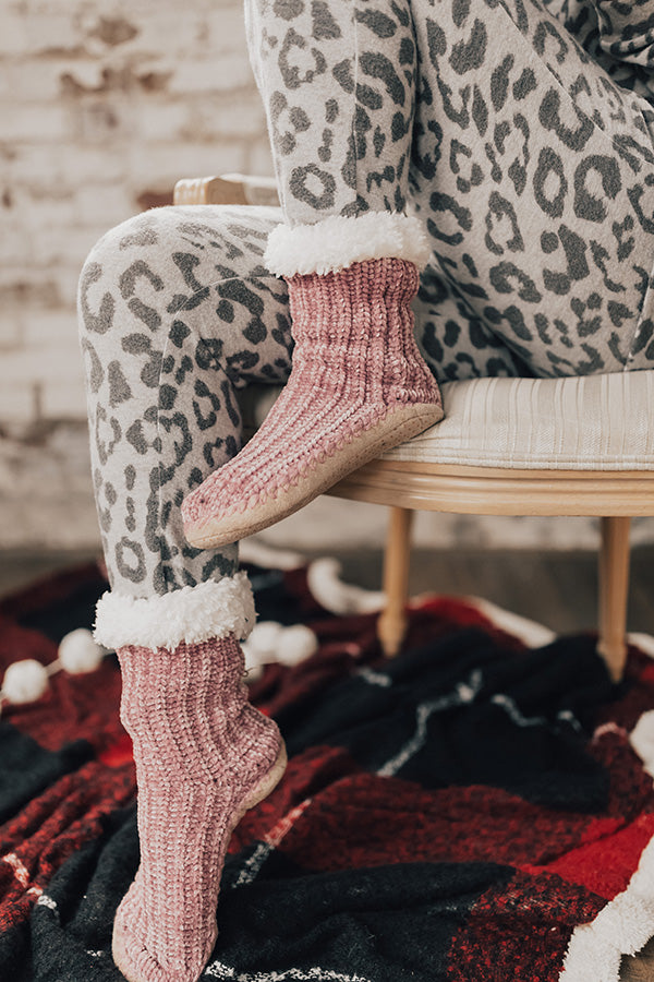 Snow Day Snuggle Chenille Slippers