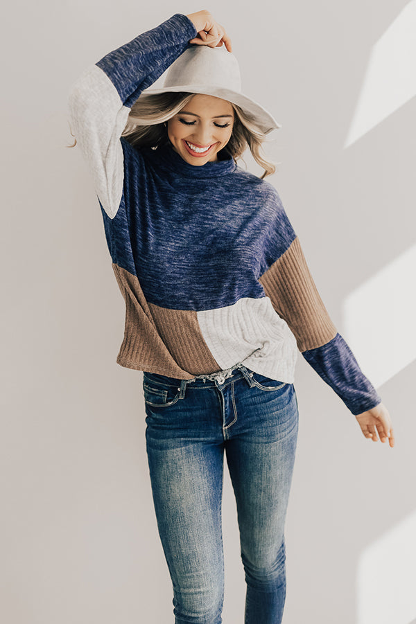 Getting Warmer Color Block Shift Sweater