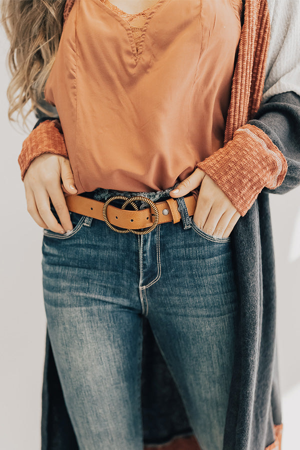 Chic For Sure Belt In Tan