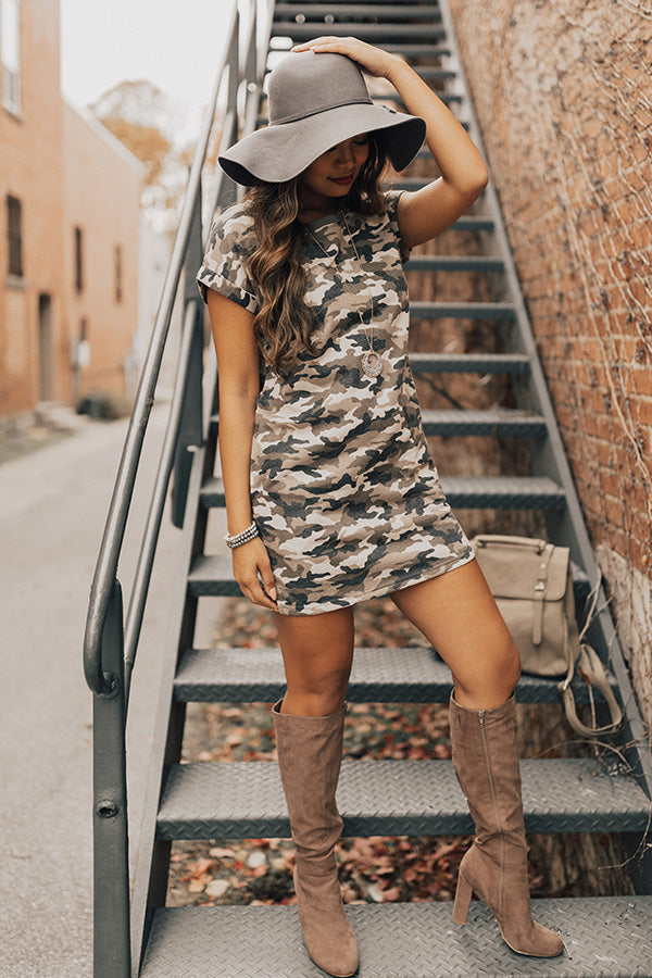 VIP Travels Camo T-shirt Dress