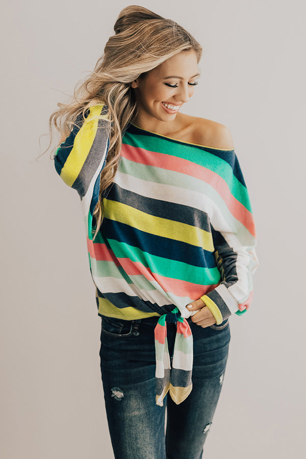 Cali Cold Front Stripe Top