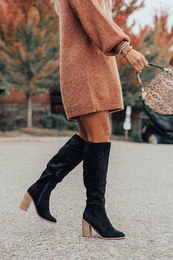 The Lynn Over The Knee Boot In Black