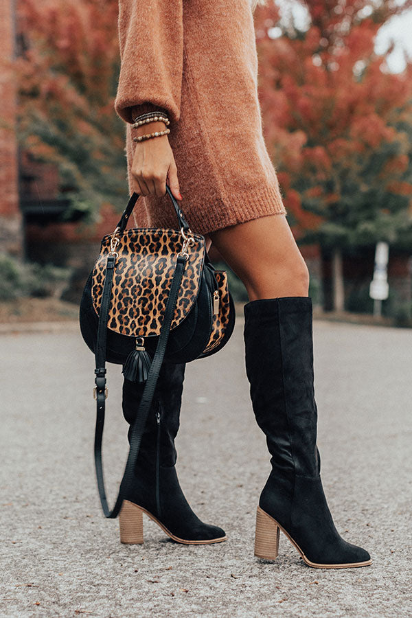 The Lynn Knee High Boot In Black