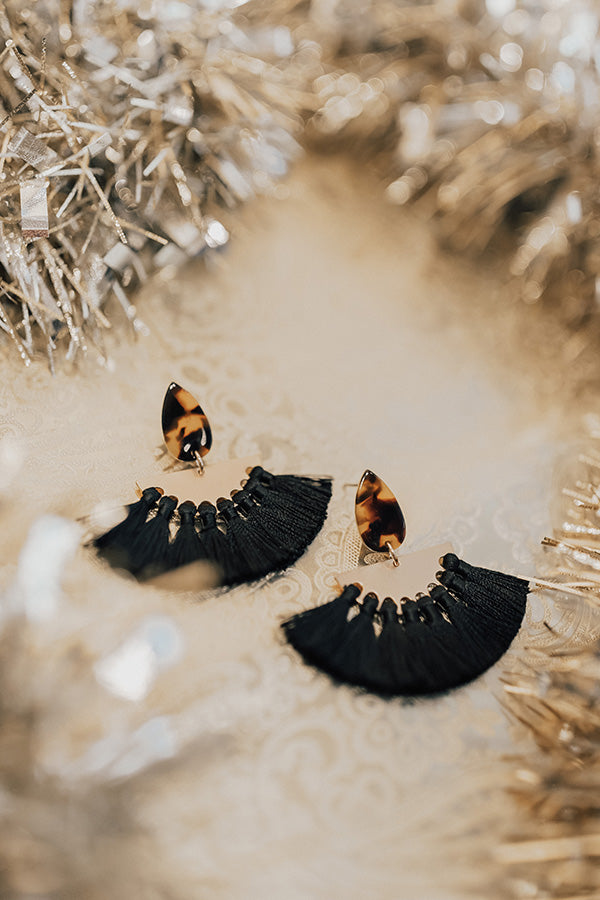 All Out Gorgeous Earrings In Black