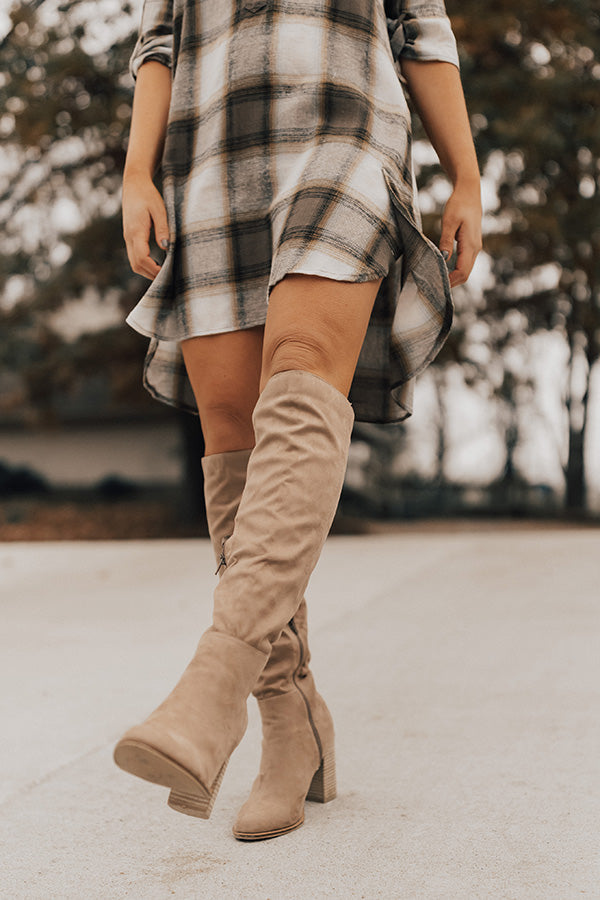 35658ded65e The Lynn Over The Knee Boot In Warm Taupe