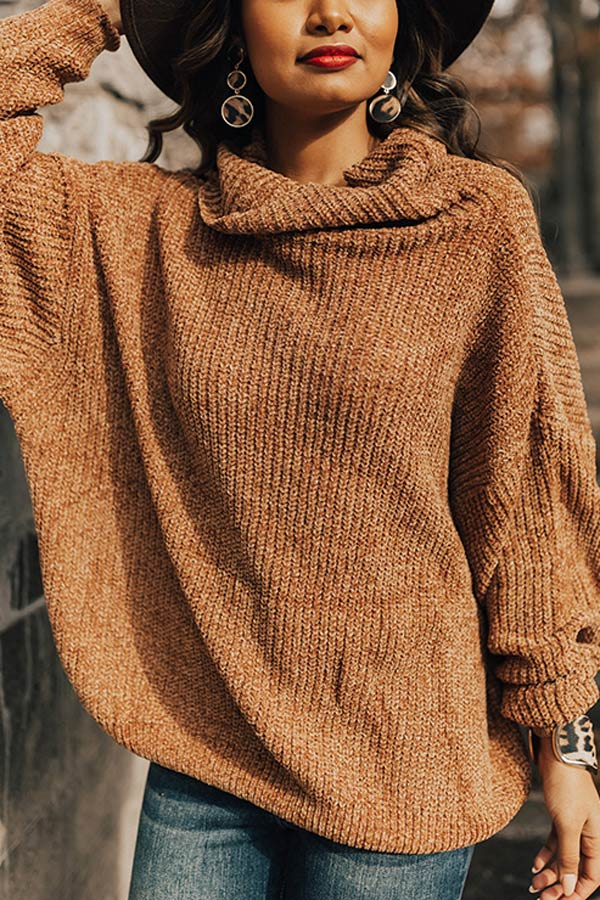 Softest Of Them All Chenille Sweater In Copper