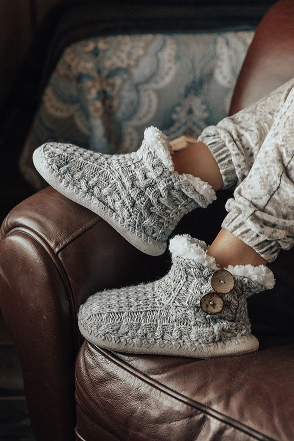 Leap Of Faith Hand-Knit Slippers