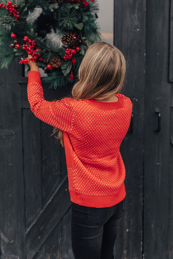 Evergreen Bliss Shift Sweater in Red