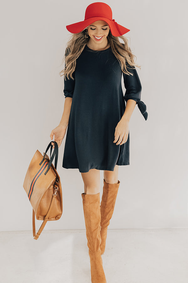 The Best of Times Shift Dress in Navy