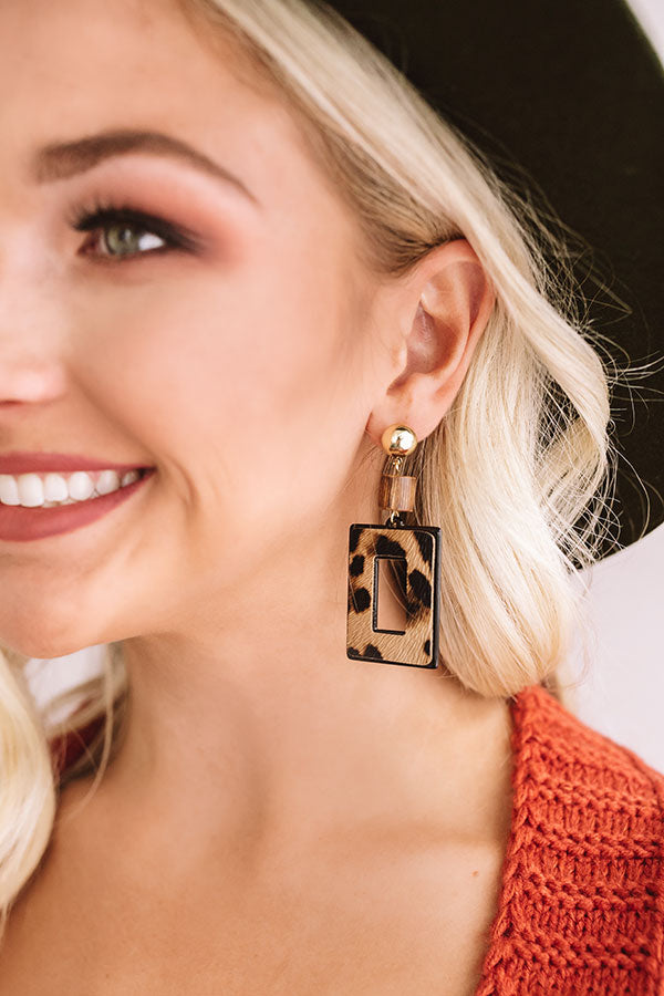 Gossip To Me Leopard Earrings