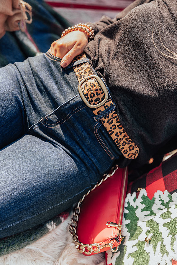 The Camille Leopard Belt in Gold