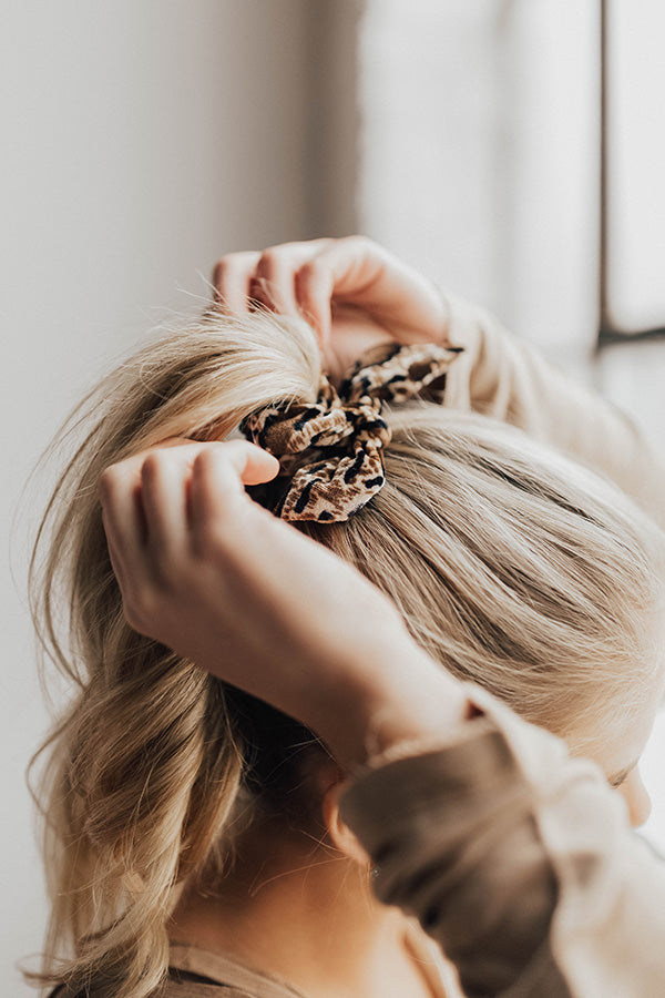 Wild Card Leopard Scrunchie
