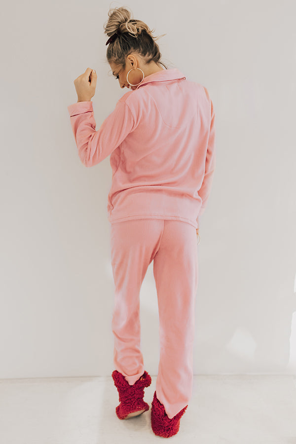 Snuggle Season Micro Fleece Pajama Set in Pink