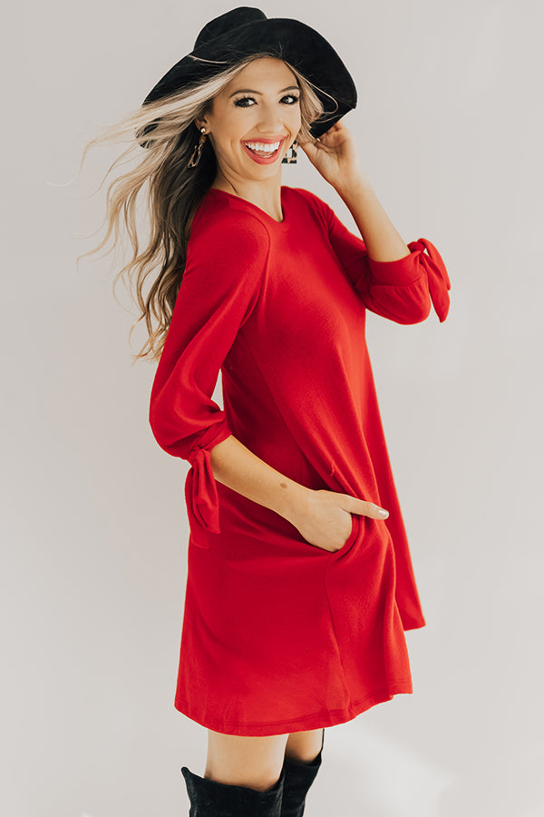 The Best of Times Shift Dress in Red