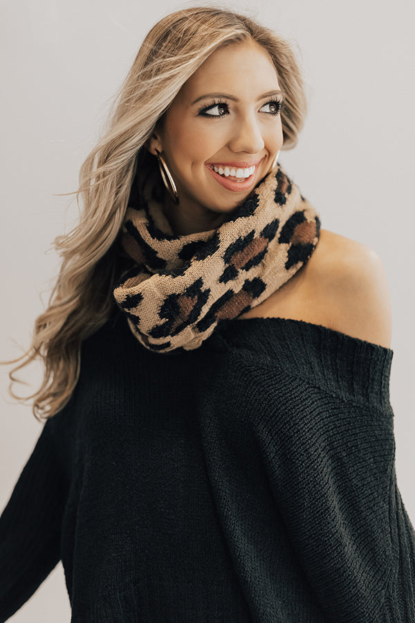 VIP In Vail Leopard Infinity Scarf