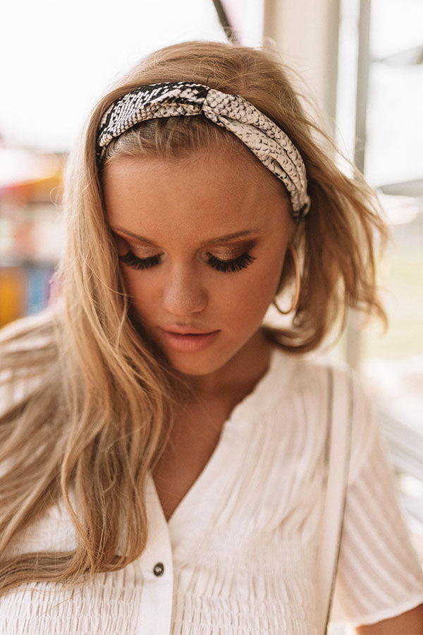 Twist And Shout Snake Print Headband