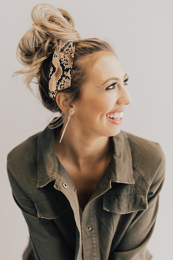Tied And True Snake Print Scrunchie