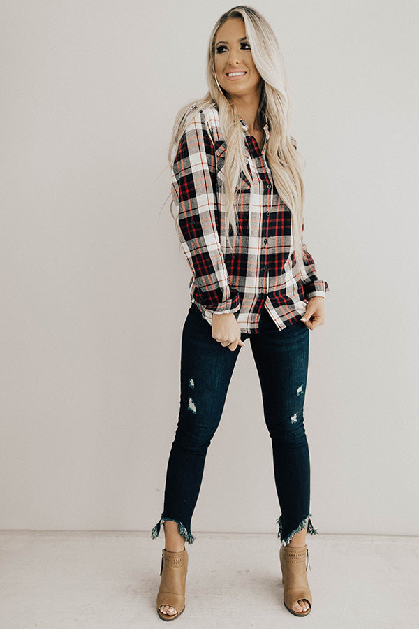 Posh In Plaid Top