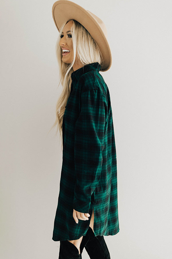 Ready To Chill Flannel Dress