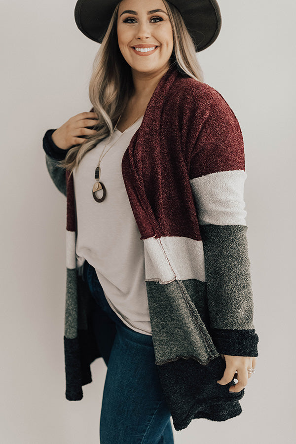 So Cozy Together Color Block Cardigan