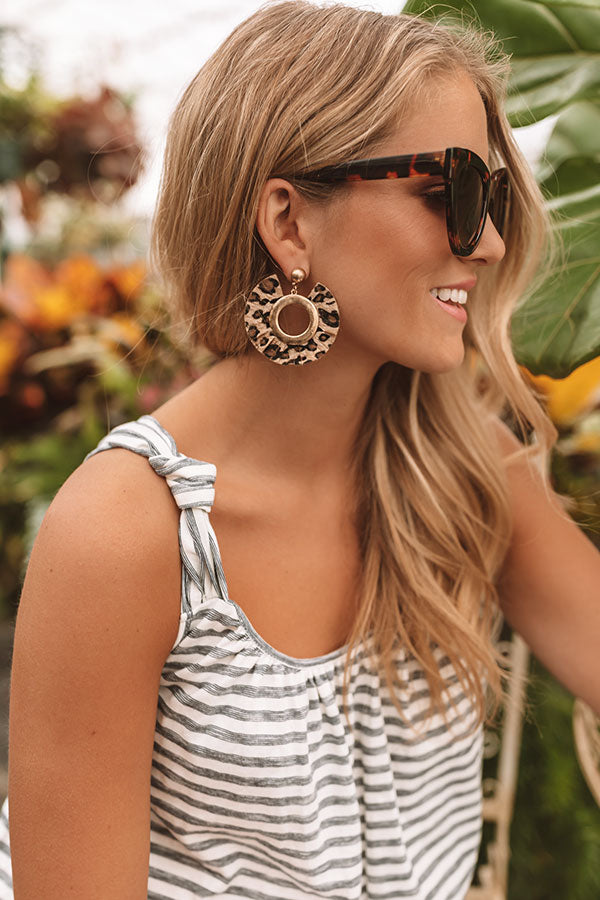 The City Scene Earrings In Leopard