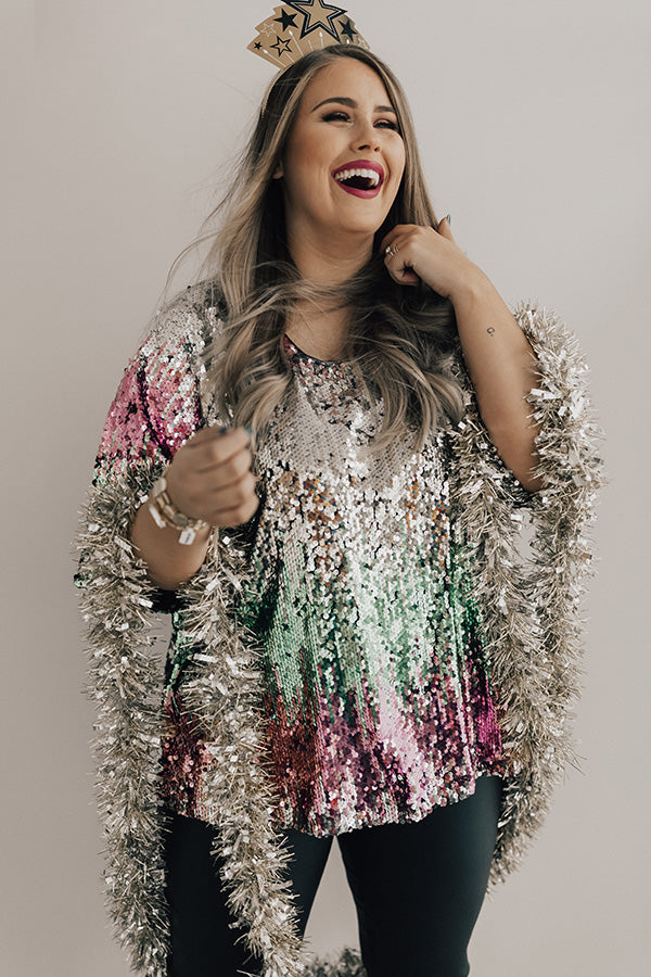 Let Your Light Shine Sequin Top