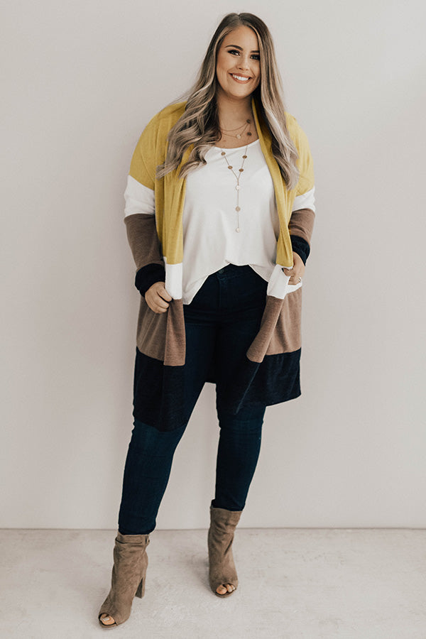 Chill Night Breeze Color Block Cardigan