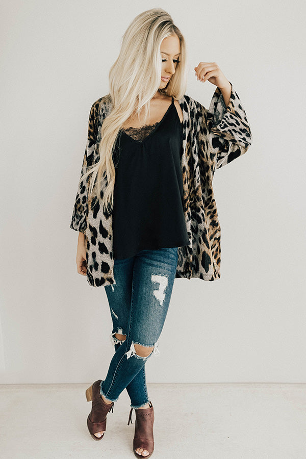 Spotted And Fabulous Leopard Cardigan